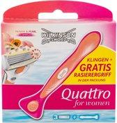 Wilkinson Sword Scheermesjes - Quattro For Women - 3 Mesjes+Houder