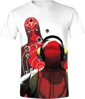 Deadpool - Shooting Range T-Shirt - Wit - M