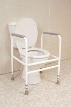 Toiletkader NRS staal, wit gecoat - vrijstaand, 43 cm