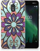Nokia 2 TPU Hoesje Design Purple Flower