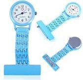 Verpleegster horloge Classic -metaal- BLAUW
