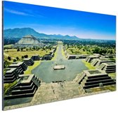Teotihuacan  Mexico Aluminium 60x40 cm - Foto print op Aluminium (metaal wanddecoratie)
