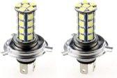 H4 autolamp 2 stuks   LED koplamp   30-SMD xenon wit 6000K   12V
