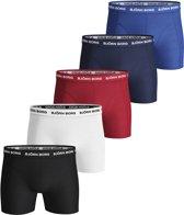Björn Borg Heren Boxers 5-Pack Multikleuren Long Solid Stretch - XXL