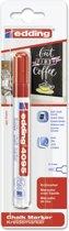 Edding - Krijtmarker e-4095 - Op blister - Rood