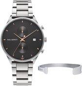 Paul Hewitt Chrono Line Giftset PH-PM-15-M - Horloge/Armband - Staal - Zilverkleurig - 42mm/M