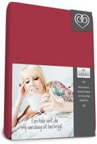Bed-fashion jersey hoeslaken Bordeaux - 200 x 210 cm - Bordeaux