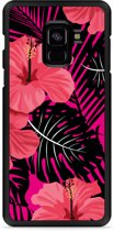 Galaxy A8 Plus 2018 Hardcase Hoesje Tropical Flowers