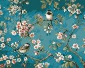 Diamond Painting – Volwassenen - Volledige dekking - Vierkante Steentjes – Hobby Pakket - Inclusief Premium Tools - Vogels & Bloemen - 30x40 cm