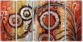 Schilderij aluminium vijfluik Fantasie 80x150cm