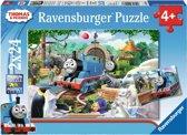 Ravensburger Thomas & Friends en zijn vrienden- Twee puzzels van 24 stukjes - kinderpuzzel