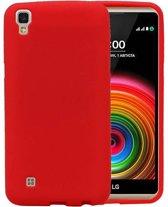 LG Stylus 3 / K10 Pro Sand Look TPU Hoesje Backcover Rood