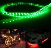 5 STKS 45 LED 3528 SMD Waterdichte Flexibele Auto Strip Licht voor Auto Decoratie, DC 12 V, lengte: 90 cm (Groen Licht)