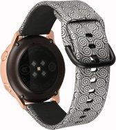 """Sportbandje """"Grey Swirl"""" Small - geschikt voor Galaxy Watch 42mm en Galaxy Watch Active"""