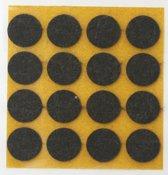 Qlinq Anti-krasvilt Dubbelpak - Bruin - 22 mm - 2x12 st