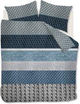 Ambiante Macy - Dekbedovertrek - Tweepersoons - 200x200/220 cm - Blauw