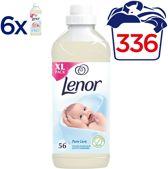 Lenor Pure Care Zachte Aanraking - 336 Wasbeurten - Voordeelverpakking 6x1400ml - Wasverzachter