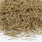 Kopspelden, l: 18 mm, dikte 0,6 mm, goud, 500gr