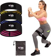 Fast-Fit Weerstandsbanden set van 3 Black - Bootybands  - Weerstandsband - Fitness elastiek - Fitnessband