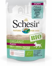 Schesir Puppy Bio Pouch Paté - Hondenvoer - Kip 85 g