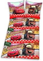 Cars - dekbedovertrekset - eenpersoons 140x200/65x65cm - rood