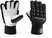 The Indian Maharadja Glove Long finger Sr. - Zaalhockeyhandschoen - Rechts - Maat M - Zwart/Wit