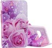 Mobigear Wallet Case Roos Pattern Samsung Galaxy S10