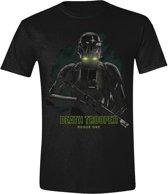 Star Wars Rogue One - Death Trooper Fog T-Shirt - Zwart - L