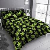 Dekbedovertrek Marijuana Cannabis Leaf zwart - 230x220