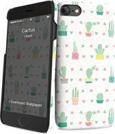 i-Paint cover cactus - wit - voor iPhone 7/8