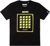 Fortnite T-shirt met korte mouw - zwart - Maat 140