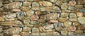 Fotobehang Stenen, Muur | Grijs | 416x254
