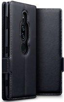 Sony Xperia XZ2 Premium hoesje - CaseBoutique - Zwart - Leer