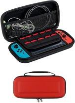 Bescherm Case Hard Cover Hoesje Geschikt voor Nintendo Switch - Rood