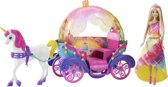 Barbie Dreamtopia Rainbow Princess met Eenhoorn en Koets