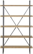 Light & Living Stellingkast  CALLAO 5 laags 122x47x200 cm  -  hout