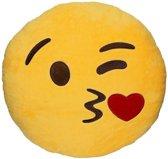 Emoji kussen/knuffel - Kiss - 30*30 cm