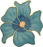 Behave®  Broche bloem blauw emaille