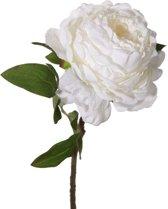Viv! Home Luxuries - Pioenroos - zijden bloem - wit - topkwaliteit