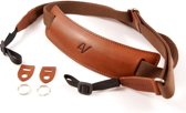 4V Design Lusso Large Neck Strap Tuscany Leather Brown/Brown