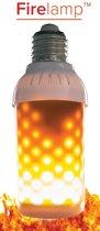 LED Fire lamp met vuur-simulatie MAT (voor fitting boven)