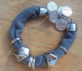 2 Love it Coins - Armband - Bedels - Grijs - Zilverkleurig