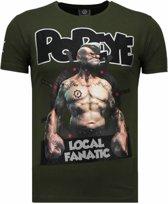 Local Fanatic The Sailor Man - Rhinestone T-shirt - Groen - Maten: S