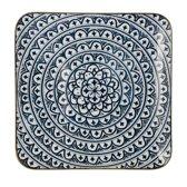Riverdale Bloom - Vierkant - 26cm - blauw