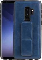 Grip Stand Hardcase Backcover voor Samsung Galaxy S9 Plus Blauw