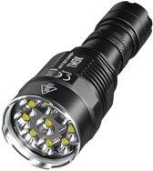 AA - Militaire Zaklamp - LED Zaklamp -Waterdicht – Inzoom baar-Outdoor-Survival-Militaire - Zaklamp-Aluminium-Zwart