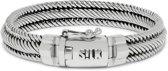 S!LK zilveren armband 731 Weave
