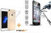 Paxx® Siliconen Transparant Hoesje iPhone 7 / 8 Met Tempered Glass Screenprotector Beschermglas iPhone 7 / 8