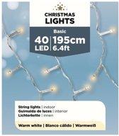 Micro kerstverlichting op batterij warm wit 40 lampjes