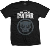 Marvel Comics - Black Panther Big Icon heren unisex T-shirt zwart - L